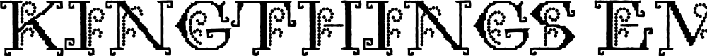 Preview image for Kingthings Embroidery Font