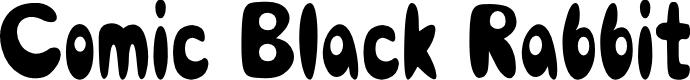 Preview image for Comic Black Rabbit Font