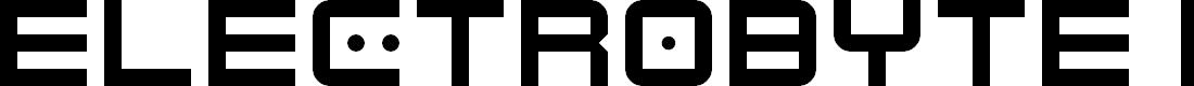 Preview image for Electrobyte Regular Font