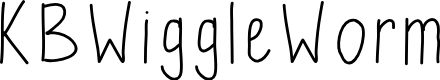 Preview image for KBWiggleWorm Font