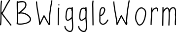 KBWiggleWorm font