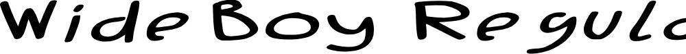 Preview image for Wide Boy - Regular Font