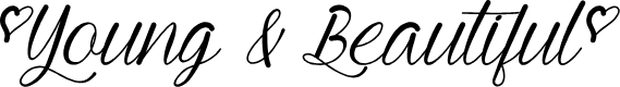 Preview image for Mf Young & Beautiful Font