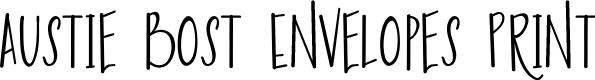 Preview image for Austie Bost Envelopes Print Font