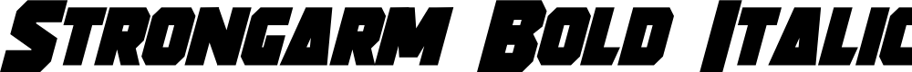 Preview image for Strongarm Bold Italic