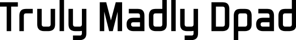 Preview image for Truly Madly Dpad Font