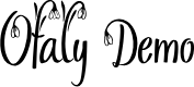 Preview image for Ofaly Demo Font
