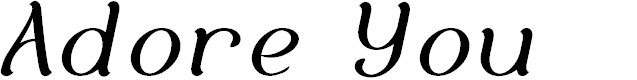 Preview image for Adore You Font