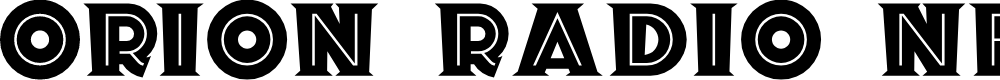 Preview image for Orion Radio NF Font