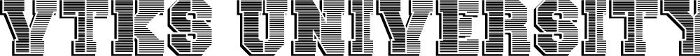 Preview image for vtks university Font