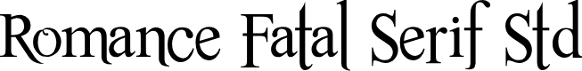 Preview image for Romance Fatal Serif Std Font