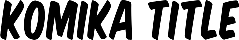 Preview image for Komika Title Font