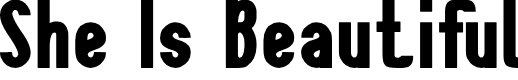 Preview image for She Is Beautiful Font