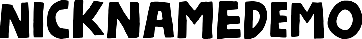 Preview image for NicknameDEMO Font