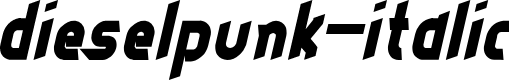 Preview image for dieselpunk-italic