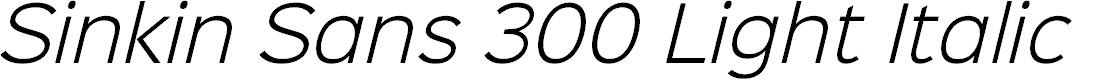 Preview image for Sinkin Sans 300 Light Italic