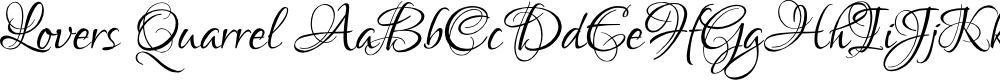 Preview image for Lovers Quarrel Font