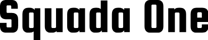 Preview image for Squada One Font