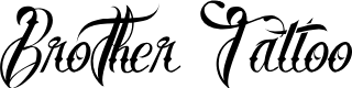 Preview image for Brother Tattoo Font