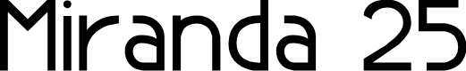 Preview image for Miranda 25 Font