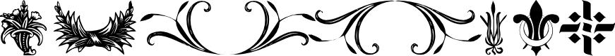 Preview image for Destiny's Decorative Dings Font