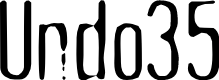 Preview image for Undo35 Font