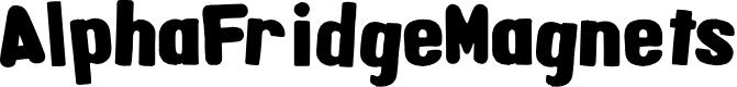 Preview image for AlphaFridgeMagnets  Font