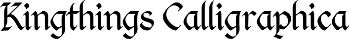 Preview image for Kingthings Calligraphica Light