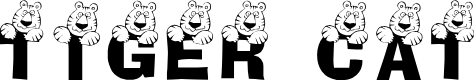 Preview image for LCR Tiger Cat Font
