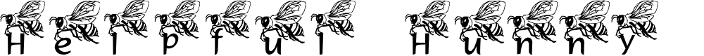Preview image for LMS Helpful Hunny Bee Font