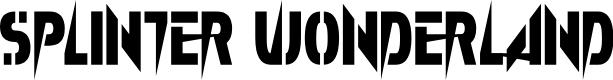 Preview image for Splinter Wonderland Font