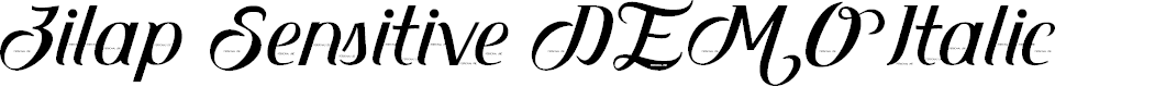 Preview image for Zilap Sensitive DEMO Italic Font