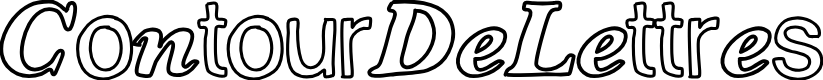 Preview image for ContourDeLettres Font