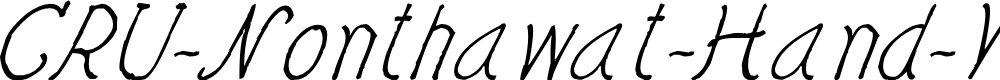 Preview image for CRU-Nonthawat-Hand-Written Italic Font
