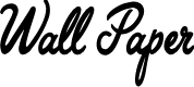 Preview image for Wall Paper Personal Use Regular Font