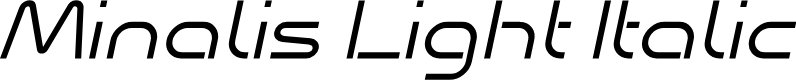 Preview image for Minalis_Demo Light Italic