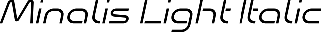 Minalis_Demo Light Italic