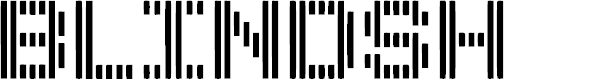 Preview image for BLINDSH Font