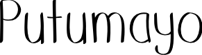 Preview image for Putumayo Font