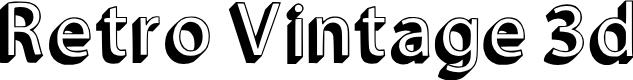 Preview image for Retro Vintage 3d Regular Font