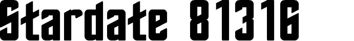 Preview image for Stardate 81316 Font