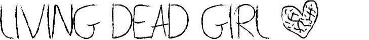 Preview image for Living Dead Girl Font