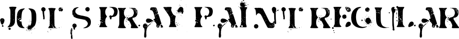Preview image for Jot Spray Paint Regular Font