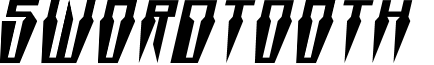 Swordtooth Squat Italic