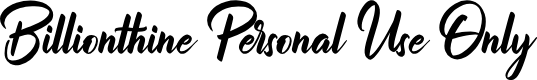 Preview image for Billionthine Personal Use Only Font