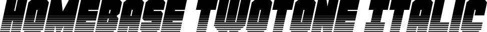 Homebase Twotone Italic