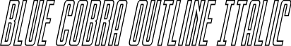 Blue Cobra Outline Italic