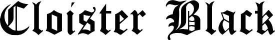 Preview image for Cloister Black Light Font