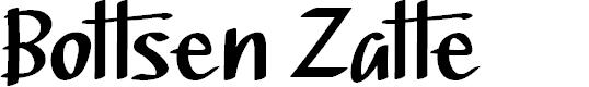 Preview image for Bottsen Zatte Font