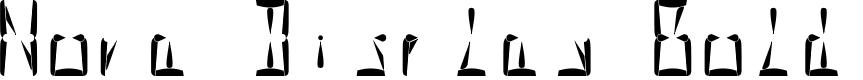 Preview image for Nova Display Bold Font